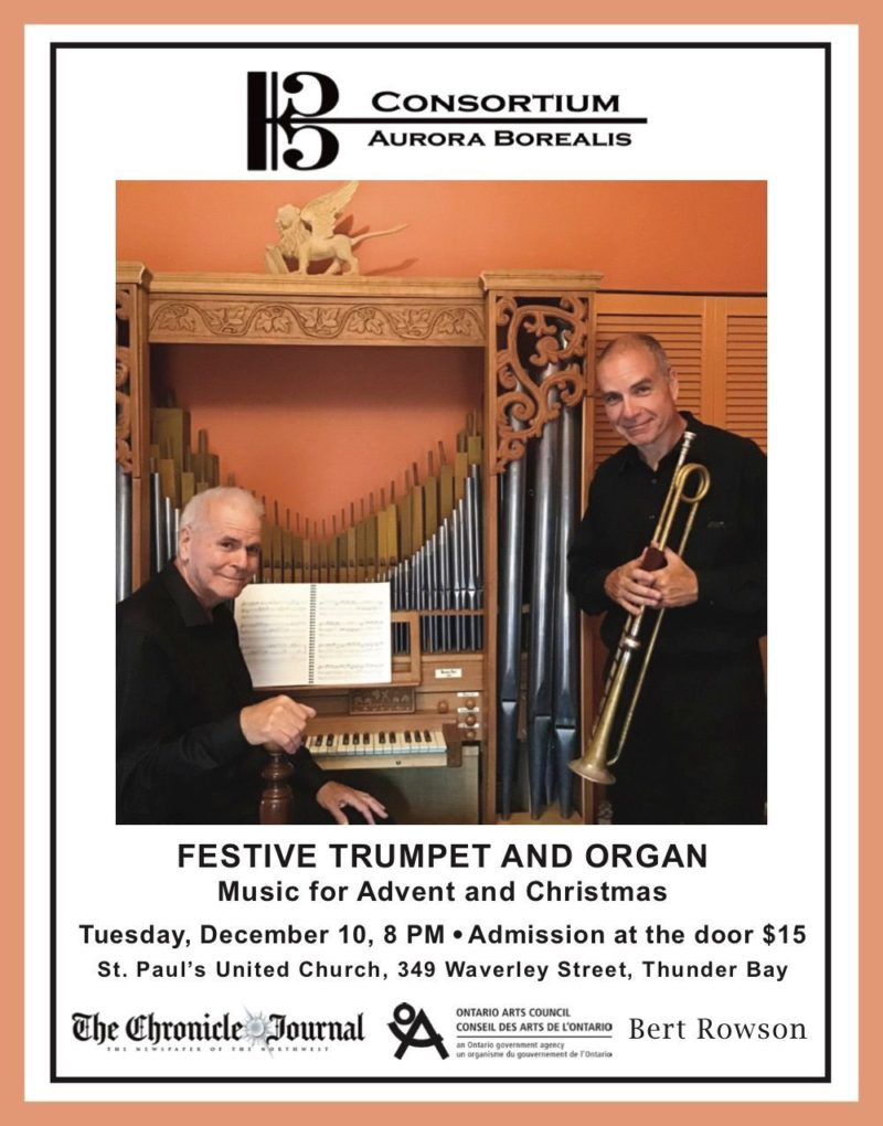 Two musicians - trumpet and organ